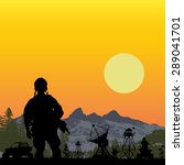 us soldier guarding the base... | Shutterstock .eps vector #289041701