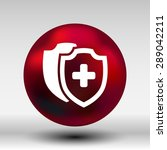 vector medical shield icon... | Shutterstock .eps vector #289042211
