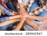 circle of trust. group of... | Shutterstock . vector #289042967