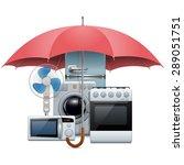 vector household appliances... | Shutterstock .eps vector #289051751