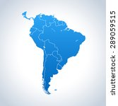 map of south america | Shutterstock .eps vector #289059515