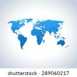 map of world | Shutterstock .eps vector #289060217