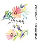 watercolor greeting card... | Shutterstock .eps vector #289063265