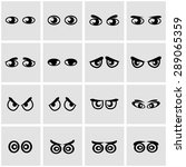 vector black cartoon eyes icon... | Shutterstock .eps vector #289065359