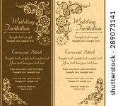 wedding invitation in pastel... | Shutterstock .eps vector #289073141