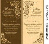 wedding invitation in pastel... | Shutterstock .eps vector #289073141