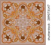ornament card with mandala.... | Shutterstock .eps vector #289073147