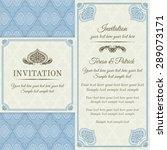 antique baroque invitation ... | Shutterstock .eps vector #289073171