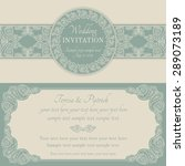 antique baroque wedding... | Shutterstock .eps vector #289073189