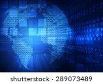 vector digital global... | Shutterstock .eps vector #289073489
