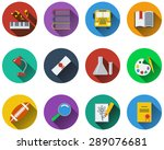 set of school icons in flat... | Shutterstock .eps vector #289076681