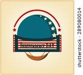 vector usa american... | Shutterstock .eps vector #289080014