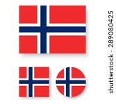 set of vector icons with norway ... | Shutterstock .eps vector #289080425