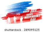 illustration of fourth of july... | Shutterstock .eps vector #289095125