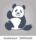 vector panda   Shutterstock .eps vector #289096469