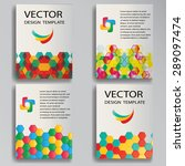 vector template poster set....   Shutterstock .eps vector #289097474