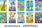 cards for kids learning to count | Shutterstock .eps vector #289099601