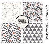vector set of four seamless... | Shutterstock .eps vector #289099775