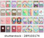 abstract brochure design . mega ... | Shutterstock .eps vector #289103174