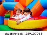 Happy Kids  Girls Having Fun O...