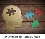Puzzle Head Brain Concept....
