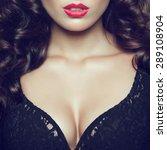 seductive decollete concept.... | Shutterstock . vector #289108904