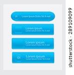 blue vector buttons set | Shutterstock .eps vector #289109099