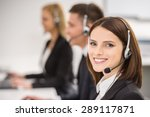 smiling beautiful lady working... | Shutterstock . vector #289117871