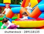 happy kids  having fun on...   Shutterstock . vector #289118135
