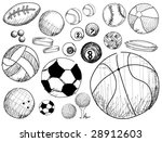 ball sport doodles   vector | Shutterstock .eps vector #28912603