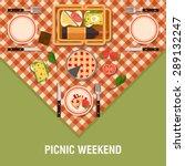 vector family picnic glade... | Shutterstock .eps vector #289132247
