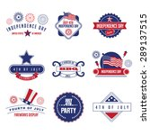 fourth of july icon set. | Shutterstock . vector #289137515