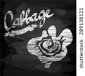 chalkboard hand drawn menu... | Shutterstock .eps vector #289138121