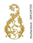 ornament elements  vintage gold ... | Shutterstock . vector #289139705