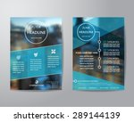 business brochure flyer design layout template in A4 size, with blur background, vector eps10. | Shutterstock vector #289144139