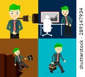 set of businessman pose... | Shutterstock .eps vector #289147934