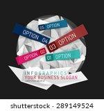 modern origami paper... | Shutterstock .eps vector #289149524