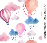 watercolor seamless pattern... | Shutterstock .eps vector #289153877