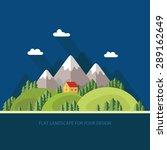landscape. houses in the... | Shutterstock .eps vector #289162649