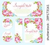 wedding invitation card... | Shutterstock .eps vector #289173161