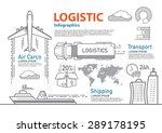 vector logistic line... | Shutterstock .eps vector #289178195