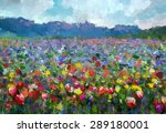 Oil Painting Colorful Spring...