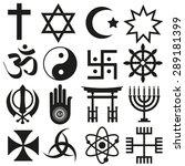 world religions symbols vector... | Shutterstock .eps vector #289181399