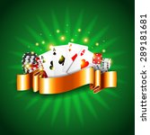 luxury casino background with... | Shutterstock .eps vector #289181681