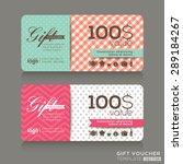 cute gift voucher certificate... | Shutterstock .eps vector #289184267