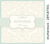 retro invitation or wedding... | Shutterstock .eps vector #289187501