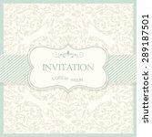 retro invitation or wedding... | Shutterstock .eps vector #289187501