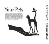 pet protection sign vector hand ... | Shutterstock .eps vector #289188479
