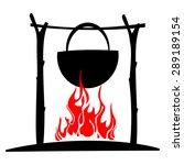 tourist fire on a white...   Shutterstock .eps vector #289189154