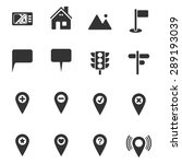 map icons vector eps10.